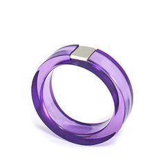Block Ring, Purple - women's jewellery sale