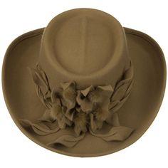 Amazon.com: Fur Flower Ribbon Wool Felt Hat - Camel W27S54E: Clothing