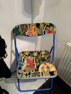 Check out this item in my Etsy shop https://www.etsy.com/uk/listing/516051335/frida-kahlo-blue-folding-chair-kitchen