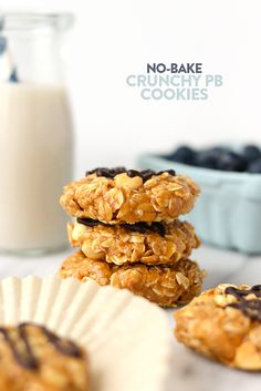These Healthy No-Bake Peanut Butter Cookies are made with 100% whole grains…
