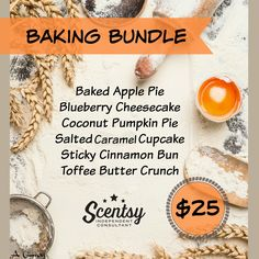 Baking Bundle - 6-pack $25, order today at www.smellarific.com. Flyer by: Angela O'Hare