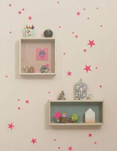 שדרוג חדרי ילדים, קיר כוכבים גובה (צילום: www.fermliving.com)