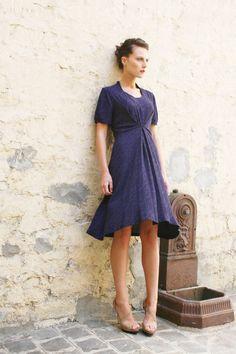 "Dress ""Mistinguette"" viscose by Phalaenopsis.fr"