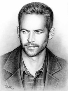 Awesome painting for a awesome person named Paul Walker Rip Paul Walker, Walker Art, Celebrity Drawings, Celebrity Portraits, Foto Transfer, Charcoal Portraits, Pencil Portrait, Fast And Furious, Pencil Drawings
