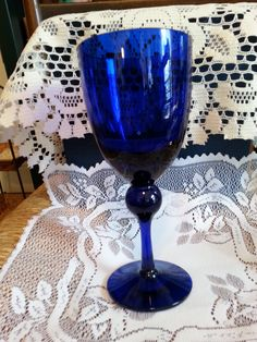 Large Wine Goblet with Ball Stem