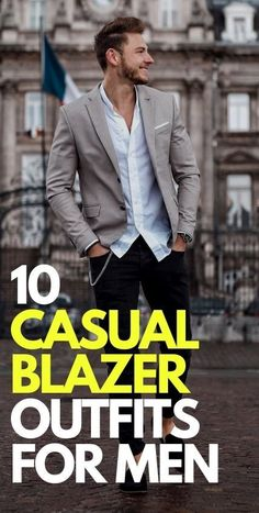 Casual Blazer Outfits for Men Blazers For Men Casual, Blazer Outfits Casual, Cool Outfits, Kim Kardashian Kanye West, Mens Fashion Blog, Mens Style Guide, Versace Men, Stylish Men, Style Guides