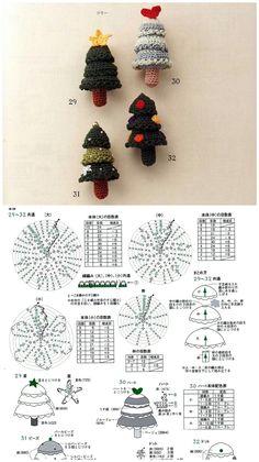 Crochet Christmas Ornaments, Christmas Knitting Patterns, Christmas Crafts, Crochet Flower Patterns, Crochet Flowers, Book Crafts, Diy And Crafts, Crochet Dolls, Knit Crochet