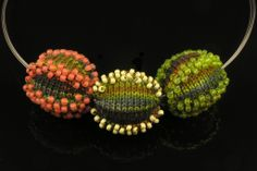 Betsy Hershberg. Jewelry Bead Ball Necklaces   Studio B Knits