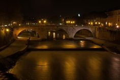 Pons Cestius by night