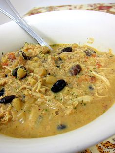 "Crock Pot Cream Cheese Chicken Chili... two thumbs up from the boys... its a ""do again."""