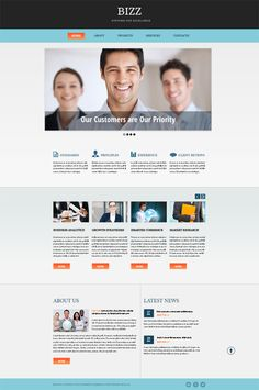 48 best free business html templates images on pinterest design free html5 business theme in clean corporate style cheaphphosting Images