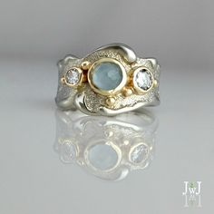 Home is where the waves are. Jewelry Rings, Jewelry Accessories, Fine Jewelry, Jewelry Design, Unique Jewelry, Jewellery, Ocean Jewelry, Gold And Silver Rings, Ancient Jewelry