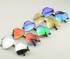 a9e83f96e6c52b Nouveau excellente qualité forme de coeur de pêche lunettes de soleil métal  rouge or argent bleu lentilles de lunettes de soleil femmes du parti UV400  ...