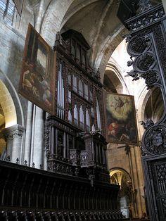 Tarragona Cathedral, Spain, organ of mid 16th century.