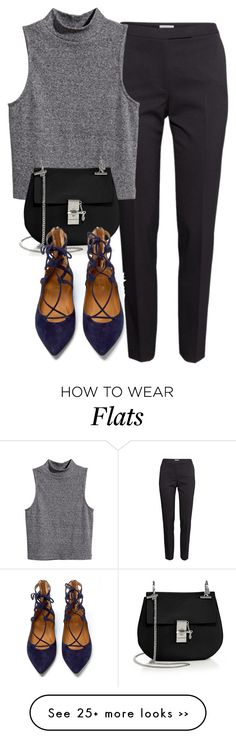 """Sin título #1897"" by marianam97 on Polyvore featuring H&M, Chloé and Aquazzura"