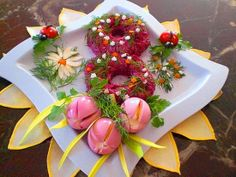 Decoration of salad