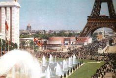 Exposition Internationale des Arts et des Techniques, fontaine du Trocadéro, Paris 1937.