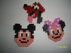 Mickey, Minnie, Pluto hama beads by les-perles-hama - skyrock