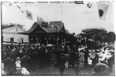 Japanese Hawaiians celebrate emperor's birthday, 1916