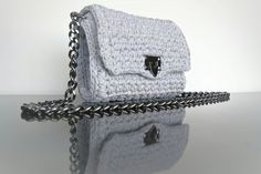 Grey Handmade Crochet Shoulder Bag❤❤❤