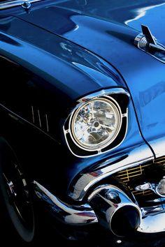 #Chrome & blue US #ClassicCar QuirkyRides.com
