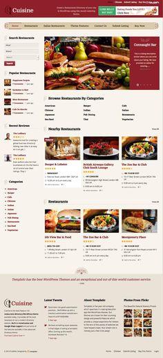 Cuisine WordPress Restaurant Directory Theme