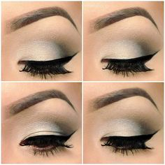 This is a really gorgeous eye.....smokey, but not too dark....very clean lines, fantastic, rich lashes and that brow, with it's immaculately shaped high arch, nary a stray hair in sight-is the stuff beauty dreams are made from.    The Drugstore Princess