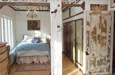 Great interior design with re-purposed and salvage materials.  From Interior Bliss, New York.