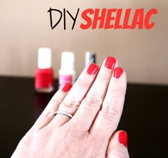 DIY Shellac. This will save me LOTS of money! have to try that....