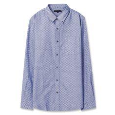 Topten10 Unisex Oxford Buttondown Modern Gray X Pattern Cotton Dress Shirts #Topten10