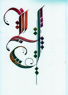 Calligraphy Alphabet, Arabic Calligraphy, Hand Lettering, Writing, Paper, Fonts, Handmade, Style, Letter Symbols