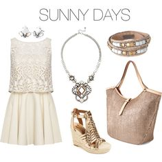 SUNNY DAYS... by glwheeler on Polyvore featuring Alice + Olivia, VC Signature and Stella & Dot