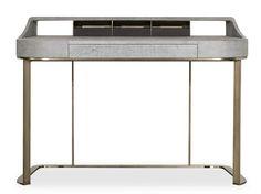 Schreibtisch aus Leder YVES by BAXTER | Design Roberto Lazzeroni