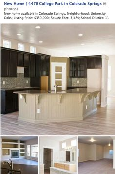 New home available in Colorado Springs. Neighborhood: University Oaks; Listing Price: $359,900; Square Feet: 3,484; School District: 11   WOW... beautiful kitchen! To take a virtual tour of this new home, visit http://ht.ly/c2Yz0