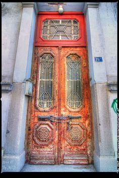 Old wooden door, Greece