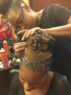 Locs are beautiful when cared for.