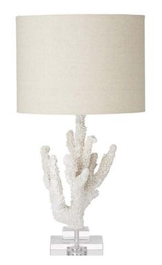 My Island Home - Faux Coral Lamp with Shade