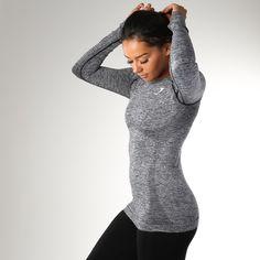 Gymshark Seamless Long Sleeve T-Shirt - Charcoal