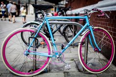 blue and pink bike