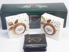 Linda Parker UK Independent Stampin' Up! Demonstrator from Hampshire @ Papercraft With Crafty : Glue Free Chocolate Box to hold 4 After Eight Mint Chocolate Thins - Springtime Foils DSP