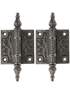 "Pair of Decorative Cast Iron Cabinet Hinges - 2"" x 2"" - heavy cast iron, $11.99 