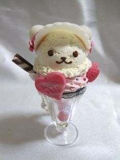 Only in Japan would they make a bear ice cream sunday...This looks too cute to eat!!
