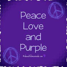 Peace Love and Purple :-) @tmgPeaceLove #TMG