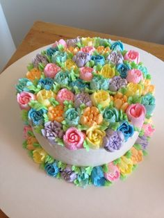 Russian Cake Decorating Tips Cake Icing, Buttercream Cake, Eat Cake, Cupcake Cakes, Buttercream Flowers, 3d Cakes, Fondant Flowers, Russian Cake Tips, Russian Cakes