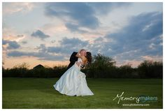 Bride and Groom at sunset at The Milestone Denton