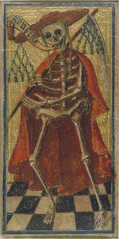 Death   Cicognara, Antonio   V&A Tarot card depicting Death. Italian, c.1490s. Formerly attributed to Antonio di Ciconagra.