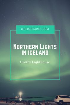 It was New Year's Eve, our last night in Iceland to watch the Northern Lights. We went to the Grotta Lighthouse in downtown Reykjavik and saw amazing Northern Lights across the sky.