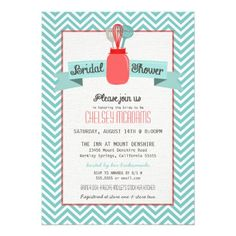 chevron stock the kitchen utensils bridal shower personalized announcements