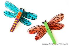 Clothespin Dragonfly Craft | Kids' Crafts | FirstPalette.com