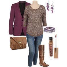 plus size outfit by penny-martin on Polyvore featuring Old Navy, Steve Madden, Accessorize, Jon Richard, SELECTED and LORAC